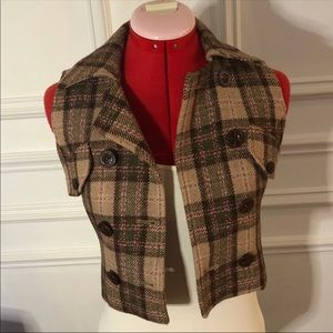 Stylish plaid vest
